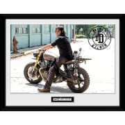 The Walking Dead Daryl Bike Framed Photograph 12 x 16 Inch
