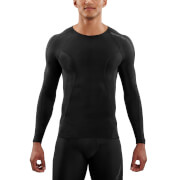 Skins DNAmic Men's Long Sleeve Top - Black/Black