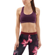 Skins DNAmic Women's Flux Sports Bra - Merlot