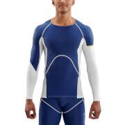 Skins DNAmic Men's Ultimate Cooling Long Sleeve Top - White/Zephyr