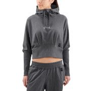 Skins Activewear Women's Spade Light Fleece Hoody - Charcoal Marle