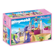 Playmobil : Écurie avec cheval à coiffer et princesse (6855)