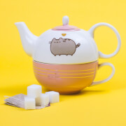 Pusheen Tea For One Teapot and Mug Set - Gold
