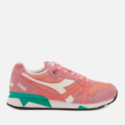 Diadora Men's N9000 III Nylon/Suede Trainers - Heather RS/Coral Haze/Pool