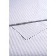 Christy 300TC Sateen Stripe Flat Sheets - White