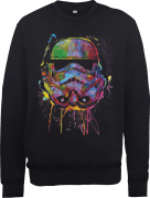 Star Wars Paint Splat Stormtrooper Sweatshirt - Black