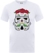 T-Shirt Homme Day of the Dead Stormtrooper - Star Wars - Blanc