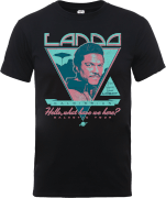 Star Wars Lando Rock Poster T-Shirt - Black
