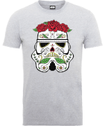 T-Shirt Homme Day of the Dead Stormtrooper - Star Wars - Gris