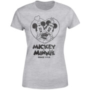 Disney Minnie Mickey Since 1928 Women's T-Shirt - Grey