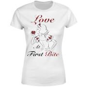 T-Shirt Femme Love At First Bite - Blanche - Neige (Princesse Disney) - Blanc