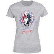 T-Shirt Femme Harley Quinn Daddy's Lil Monster - Suicide Squad (DC Comics) - Gris