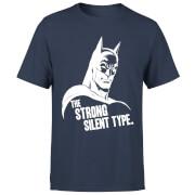 DC Comics Batman The Strong Silent Type T-Shirt - Navy