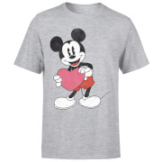 Disney Mickey Mouse Heart Gift T-Shirt - Grau