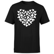 Mickey Mouse Heart Silhouette T-Shirt - Black