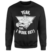 DC Comics Superman I Work Out Sweatshirt - Black