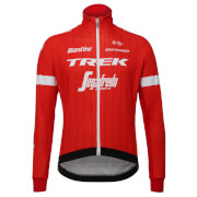 Santini Trek-Segafredo 18 Windstopper Replica Jacket - Red