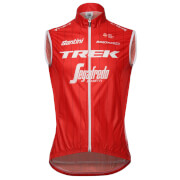 Santini Trek-Segafredo 18 Fine Replica Wind Gilet - Red
