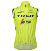 Santini Trek-Segafredo 18 Fine Training Wind Gilet - Yellow