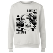 Sweat Femme Harley Quinn Love Puddin - Suicide Squad (DC Comics) - Blanc