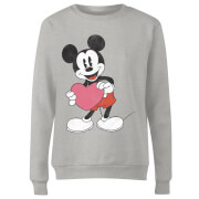 Disney Mickey Mouse Heart Gift Women's Sweatshirt - Grey