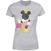 Disney Mickey Mouse Minnie Mouse Back Pose Women's T-Shirt - Grey