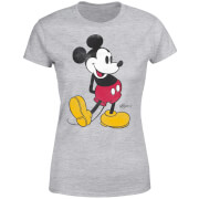 Disney Mickey Mouse Classic Kick Kleur Dames T-shirt - Grijs