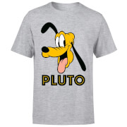 Disney Mickey Mouse Pluto Face T-Shirt - Grey