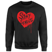 Stay Single Pullover - Schwarz