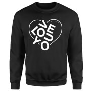Love You Jumble Pullover - Schwarz