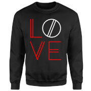 Love Geo Sweatshirt - Black