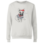 Je T'aime Frenchie Frauen Pullover - Weiß