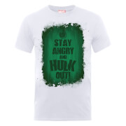 Marvel Avengers Assemble Hulk Stay Angry T-Shirt - White