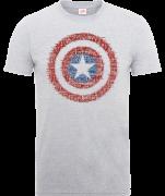 Marvel Avengers Assemble Captain America Super Soldier T-Shirt - Grey