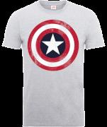Camiseta Marvel Los Vengadores Escudo Capitán América Desgastado - Hombre - Gris