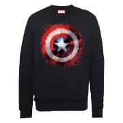 Marvel Avengers Assemble Captain America Shield Art Trui - Zwart