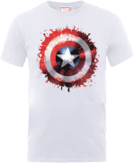 Marvel Avengers Assemble Captain America Super Soldier T-Shirt - Weiß