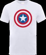 Marvel Avengers Assemble Captain America Simple Shield T-Shirt - White