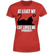 At Least My Cat Loves Me Women's T-Shirt - Red