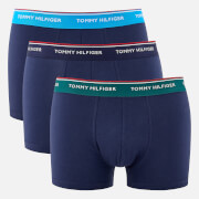 Tommy Hilfiger Men's 3 Pack Trunk Boxer Shorts - Bayberry/Malibu Blue/Peacoat