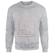Disney Beauty And The Beast Rose Gold Sweatshirt - Grey