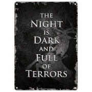 Game Of Thrones (Night Dark) Small Tin Sign
