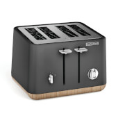 Morphy Richards Aspect 4 Slice Toaster - Titanium/Wood