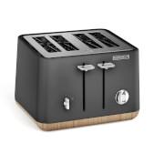 Morphy Richards Aspect 4 Slice Toaster - Titanium/Wood