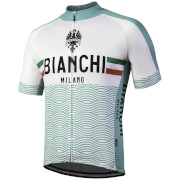 Bianchi Attone Short Sleeve Jersey - Celeste/White