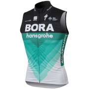 Sportful Bora Hansgrohe BodyFit Pro Wind Vest - Black/Green