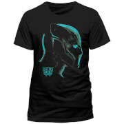 Black Panther Men's Neon Face T-Shirt - Black
