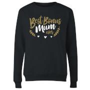 Best Bonus Mum Ever Women's Sweatshirt - Black
