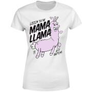 MamaLlama Women's T-Shirt - White