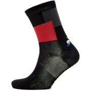 Le Coq Sportif Tour de France 2018 L'Enfer Du Nord Socks - Black/Red